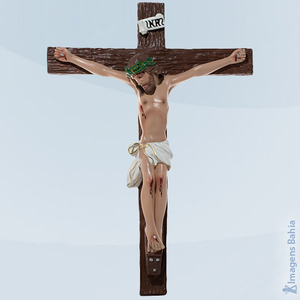 Crucifixo Gesso, 20cm