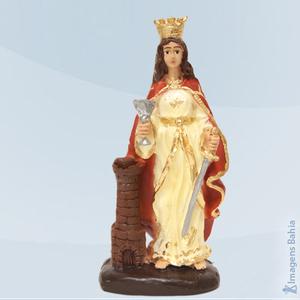 Imagem de Deus Hindu com roupa vermelha em resina