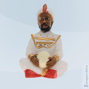 Deus Hindu com roupa branca em resina, 10cm