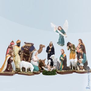 Imagem de Presépio 18 peças colorido