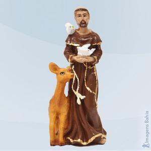 São Francisco de Assis em resina, 10cm
