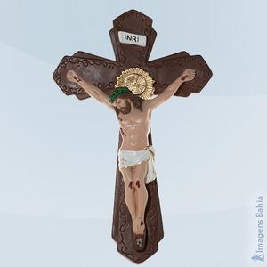Imagem de Crucifixo Gesso Estilo Barroco