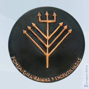 Ponto de Pomba Gira Rainha das 7 encruzilhadas, 18cm