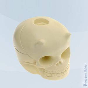 Imagem de Cranio Porta Vela(Vermelho)