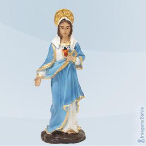 Coração De Maria em resina, 10cm