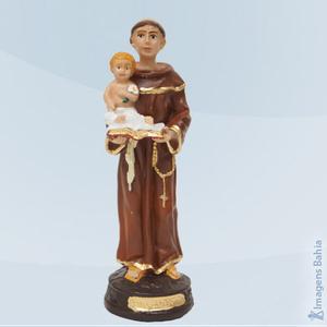 Santo Antônio em resina, 10cm