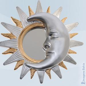 Imagem de Sol e Lua minguante