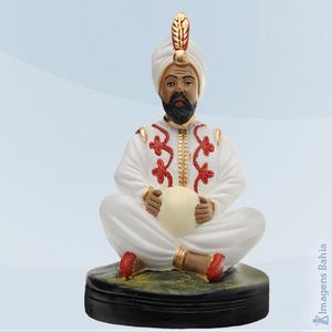 Deus Hindu com bola e roupa branca, 25cm
