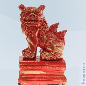 Imagem de Leão Chinês lado direito vermelho