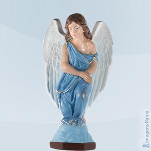 Anjo Adorador direito roupa azul, 60cm