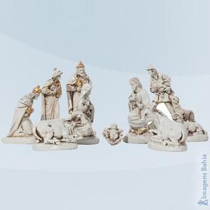 Imagem de Presépio com 10 peças patinado
