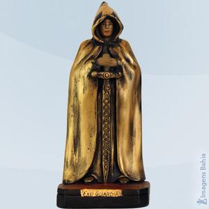 Exu Guardião Dourado, 20cm