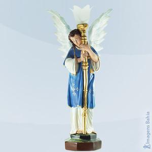 Anjo candelabro com asa para cima, 60cm