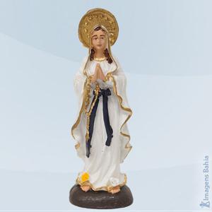 Nossa Senhora de Lourdes em resina, 10cm