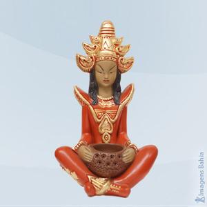 Deusa Indu roupa vermelha, 40cm