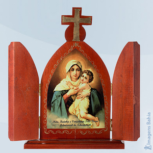 Mãe Rainha(Quadro Madeira Com Porta), 23cm