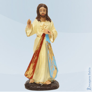 Cristo Misericordioso em resina, 10cm