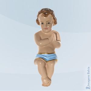 Imagem de Menino Jesus Rezando (Azul)