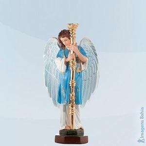 Imagem de Anjo candelabro direito roupa azul