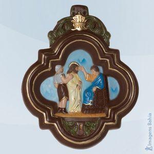 Imagem de Via sacra pintura colorida conjunto com 15 quadros