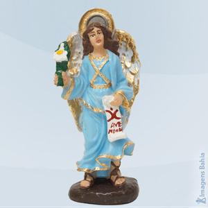 Anjo Gabriel em resina, 10cm