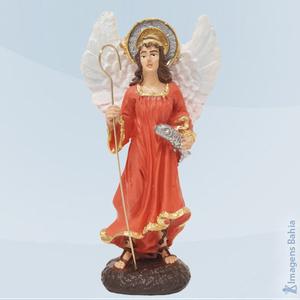 Anjo Rafael em resina, 10cm