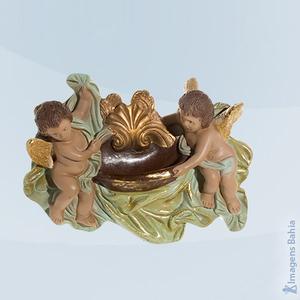 Pia com dois Anjos, 15x22cm