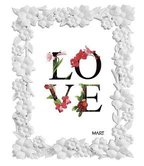 Porta Retrato Flowers Branco 10x15