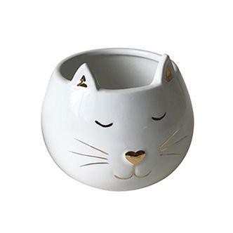 Pote Decorativo de Cerâmica Gato G