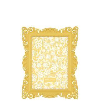 Porta Retrato Arabesco Amarelo 10x15