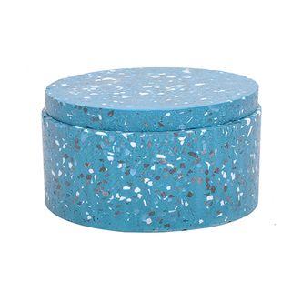 Pote Decorativo de Cimento Azul G