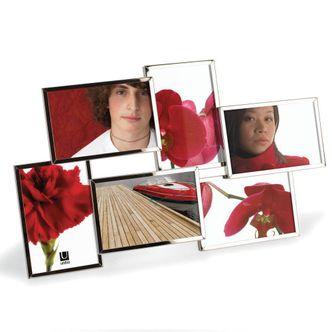 Porta Retrato Display Cromado 6 Fotos 10x15