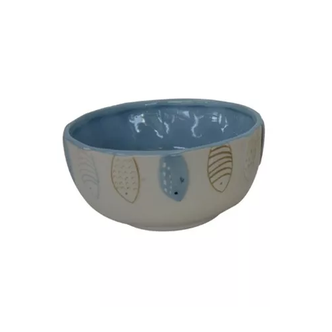 Bowl Cerâmica Peixes Azul