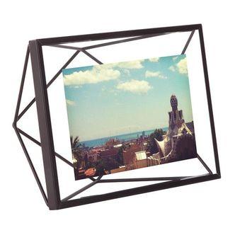 Porta Retrato Prisma Preto 10x15 cm