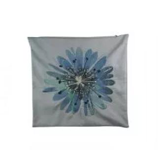 Capa Para Almofada Flor - Azul