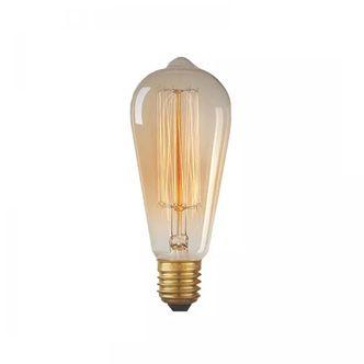 Lâmpada Retrô ST64 filamento de Carbono