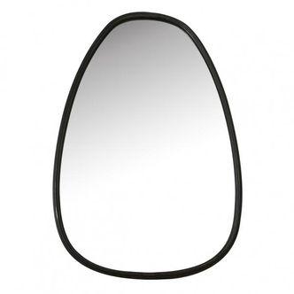 Espelho de Vidro com Metal Preto