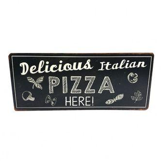 Placa Metal Pizza