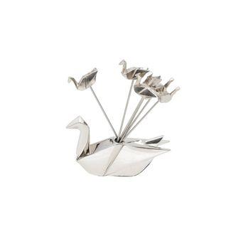 Conjunto Aperitivo de Prata Cisne Origami
