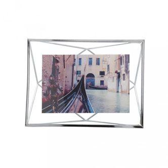 Porta Retrato Prisma Cromado 10x15 cm