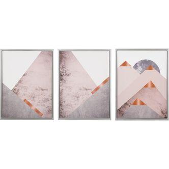 Jogo de Quadros em Canvas Abstrato