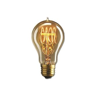 Lâmpada Retrô A19 filamento de Carbono