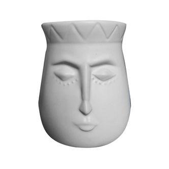 Pote Decorativo de Cerâmica Face
