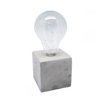Luminária Led com Base de Cimento