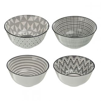 Jogo de Bowls Geométricos de Cerâmica G.