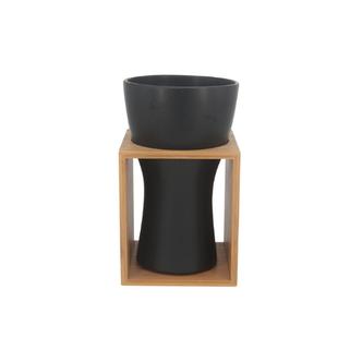 Vaso Decorativo Cerâmica e Bambu M