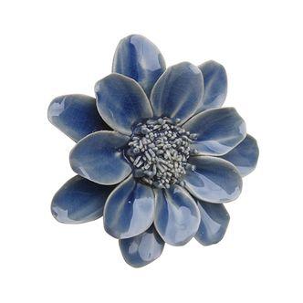 Flor Decorativa de Mesa Azul