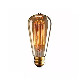 Lampada Retro Filamento Carbono ST58