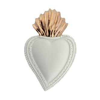 Enfeite Sagrado Coração Porcelana