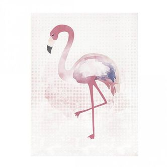 Quadro Decorativo Flamingo  40 x 30cm